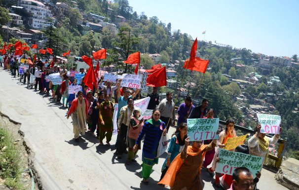 CITU protest shimla